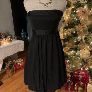 White House Black Market Silk Strapless Dress